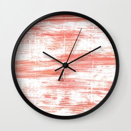 Light salmon pink abstract watercolor Wall Clock