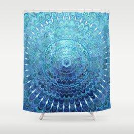 Frozen Oval Mandala Shower Curtain