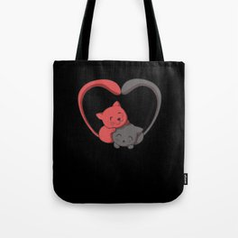 Kitten in Love T-Shirt I furry cat couple Tote Bag