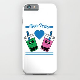 Show to the world that you and your bestfriend are tea lovers with this cute and adorable tee design iPhone Case