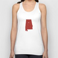 alabama Tank Tops featuring Alabama by Hunter Ellenbarger