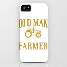Old Man Farmer iPhone Case