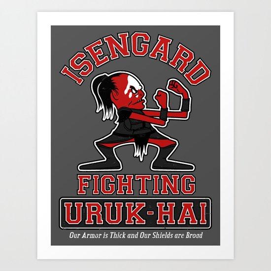 Isengard Fighting Uruk-hai Art Print