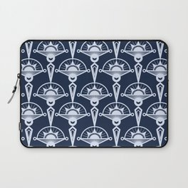 Blue art Deco . Laptop Sleeve