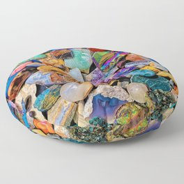 Rocks and Minerals, Geology Floor Pillow