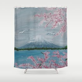 Japanese Vibes Shower Curtain