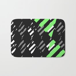 Triangle Theory, No.18 in Blue & Lime Bath Mat
