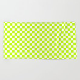 Checker (Lime/White) Beach Towel