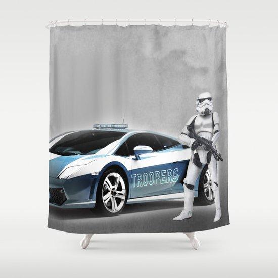 Lamborghini Troopers Shower Curtain