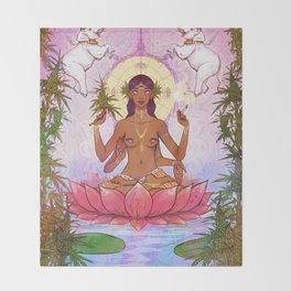 Ganja Goddess Throw Blanket
