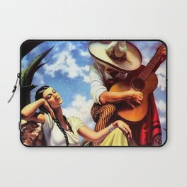 Love and Spanish Guitar (tocaores) in the Sonoran Desert, Señorita romantic portrait painting Laptop Sleeve