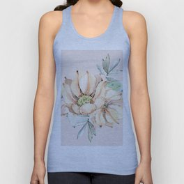 Country Cactus Coral Roses Unisex Tank Top
