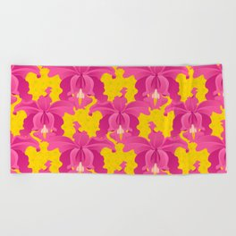 Exotic Orchid Beach Towel