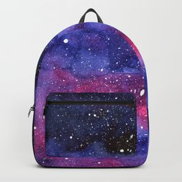 Nebula Galaxy Watercolor Space Sky Backpack
