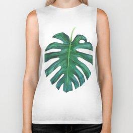 Mostera palm leaf Biker Tank