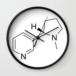 nicotine chemical formula Wall Clock