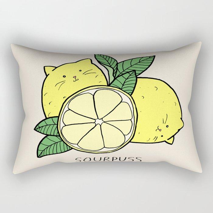 Sourpuss (colourised) Rectangular Pillow