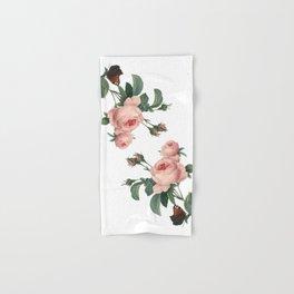 Butterflies in the Rose Garden on White Hand & Bath Towel