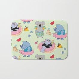 Beach animals - green Bath Mat