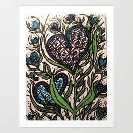 Blue Bloom Art Print