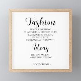 Fashion Quotes CCQ005 Framed Mini Art Print