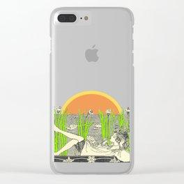Lazy Sunday Sunset Clear iPhone Case