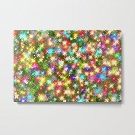 Star colorful christmas abstract Metal Print