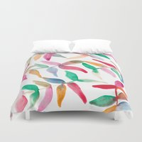 sweater Duvet Covers featuring Sweater Weather by The East Auklet