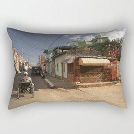 Small market, on the corner of a street, in Trinidad, Cuba. Rectangular Pillow