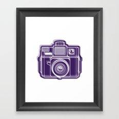 I Still Shoot Film Holga Logo - Deep Purple Framed Art Print