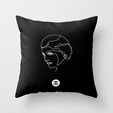 Mademoiselle Coco Silhouette -  Throw Pillow