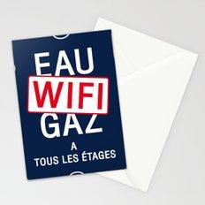 Eau Gaz Wifi Connexion Vintage Art Print Poster Stationery Cards