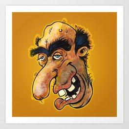 Weird-Ass Face #3 Art Print
