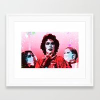 rocky horror picture show Framed Art Prints featuring The Rocky Horror Picture Show - Pop Art by William Cuccio aka WCSmack