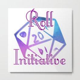 Roll Initiative Metal Print