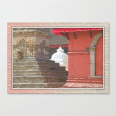 CONTEMPLATING THE OPTIONS AT BHAKTAPUR NEPAL Canvas Print