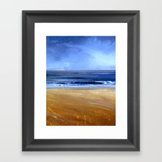 see the sky about to rain Framed Art Print