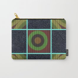 Earthy Denim Print Carry-All Pouch