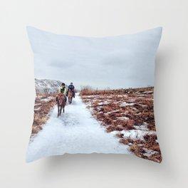 Horseback Throw Pillow