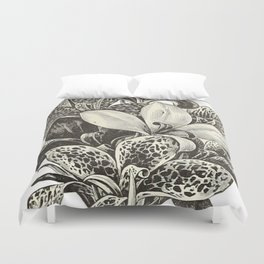 Floral Dark Duvet Cover