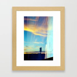 Triple Sunset Framed Art Print