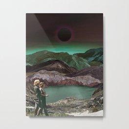 Women walking in space valley Metal Print