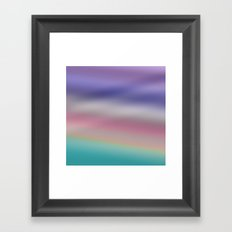 misty sky - ombre Framed Art Print