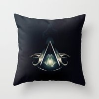 assassins creed Throw Pillows featuring Assassins Creed by albert Junior