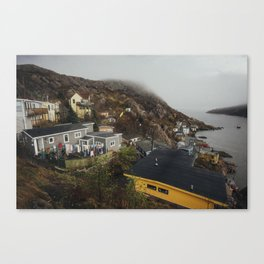 Foggy Day in The Battery, St. John's, Canada Canvas Print