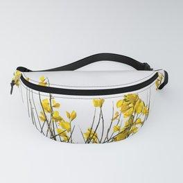 Minimal Garden -Yellow Version - Black Stems with Yellow Petals On White #decor #society6 #buyart Fanny Pack