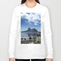 rio de janeiro Long Sleeve T-shirts featuring Lovely Rio de Janeiro by Michel Lent