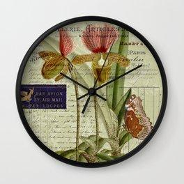 Lady Slipper Wall Clock