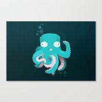 kraken Canvas Prints featuring Kraken by Damien Mason