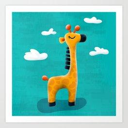Neta The Giraffe Art Print